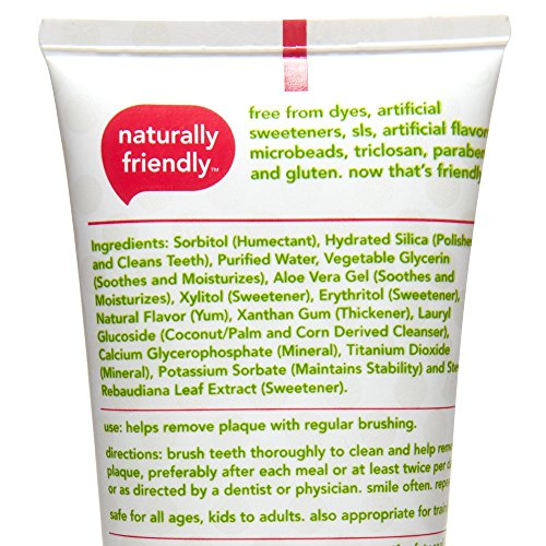516diC8nEjL - Hello Oral Care Kids Fluoride Free And SLS Free Toothpaste, Natural Watermelon, 4.2 Ounce