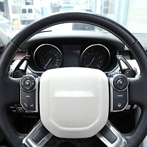 Aluminum Alloy Steering Wheel Gear Shift Paddles Auto Accessories for Landrover Discovery Sport LR 4 5 Evoque Vogue Velar Jaguar XE XF F-Pace X761 Black