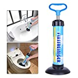 Samshow - Toilet Plunger Powerful Manual Multi Drain Plunger Suitable for Bathtubs,Toilets, Showers (Blue)