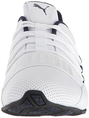 PUMA Men's Cell Regulate SL Sneaker, White Black-Peacoat Silver, 7 M US by PUMA (Image #4)