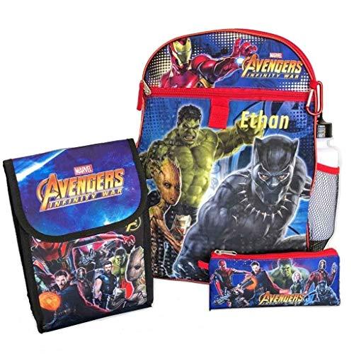 Marvel Avengers 5-Piece Kids Backpack Set