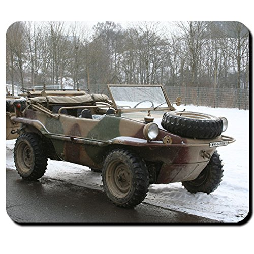 Type 166 Swimming car Oldtimer Military trolley 4x4 all wheel drive photo - Mouse Pad / Mousepad