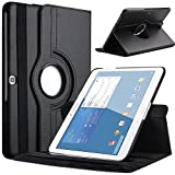 TGK Leather 360 Degree Rotating Smart Case Cover Stand For Samsung Galaxy Tab 4 (10.1 Inch) SM-T530, T531, T535 (Black)
