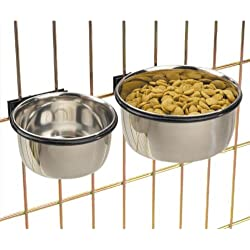 ProSelect Stainless Steel Coop Cups — Versatile Coop Cups for Pet and Animal Cages, 8-Ounce