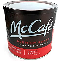 McCafe Ground Coffee Medium Roast, Premium - 30 oz Jar