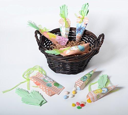 PAPER JAZZ Easter carrot bunny rabbit banner garland candy b