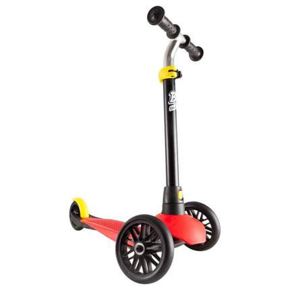 Giow Scooter para Niños, Tres Ruedas De Altura Ajustable con Frenos Plegado Rápido,Red