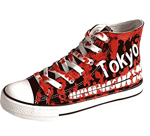 - Tokyo Ghoul Bloody Teeth Cosplay Shoes Canvas Shoes Sneakers Luminous