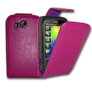Funda de Poli - Piel cuero para HTC Explorer A310e - Color Rosa