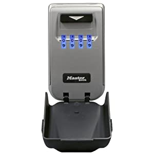 Master Lock 5425D Set Your Own Combination Wall Mount Lock Box with Light Up Dials 6 Key Capacity