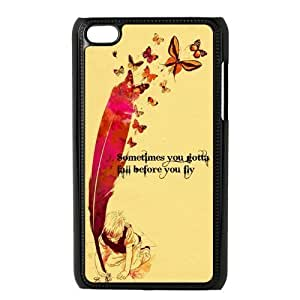 Danny Store Protective Hard PC Cover Case for iPod Touch 4, 4G (4th Generation), Sometimes You Gotta Fall Before You Fly
