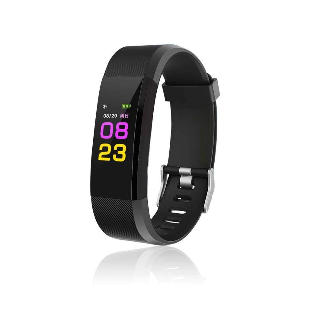 Miuniu Smart Wristband with Heart Rate Monitor/Sleep Quality Monitor/Steps Counter/GPS Tracker and More, Smart Wristband Watch for Android and iOS Clips, Arm & Wristbands