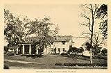 1926 Robinson House Naaman's Creek Delaware Hotel Print - Original Halftone Print