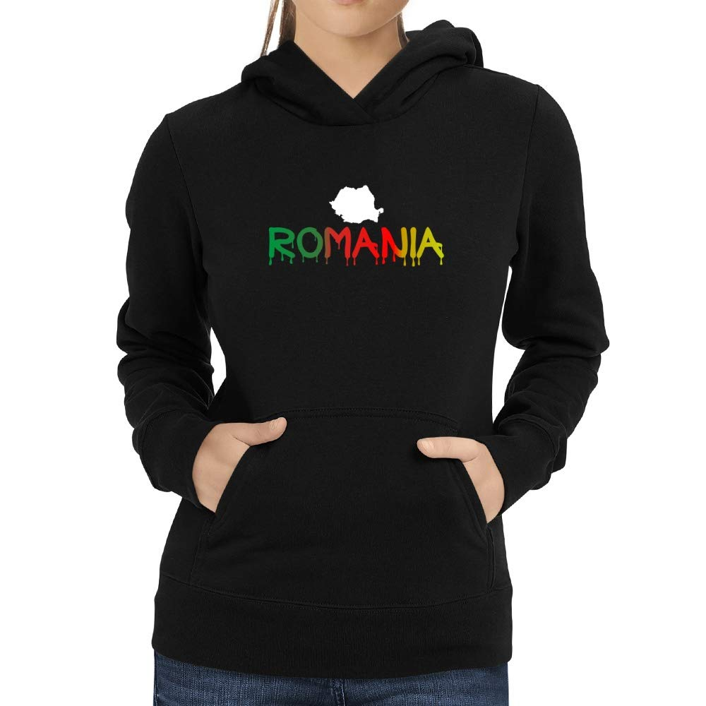 Eddany Dripping Romania Women Hoodie