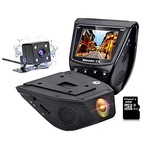 Dashboard Car Camera RESH - High-End Professional - 1080P 170°Wide Angle FHD Front Rear Dual Lens 2.0