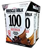 CytoSport Muscle Milk 100 RTD Chocolate 3 – 4 packs [12 – 8.25 fl oz (330 ml) shakes] Review