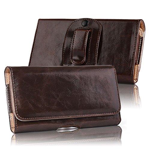 iPhone 8 Plus 7 Plus Holster,kiwitatá Horizontal Premium Leather Belt Clip Pouch Case for Apple iPhone 6 Plus/6S Plus/7 - Pouch Leather Horizontal Genuine