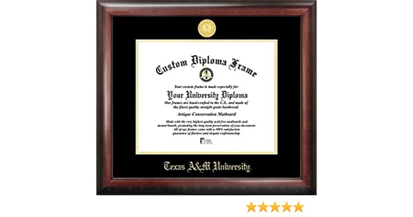 Amazon.com : Texas A&M University Gold Embossed Diploma Frame ...