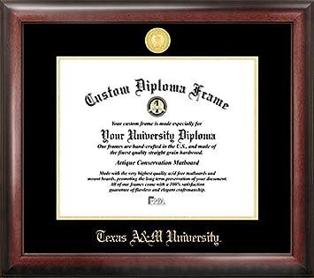 texas am university gold embossed diploma frame - Diploma Frames
