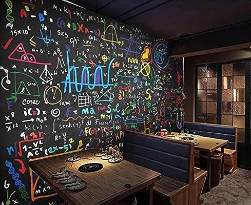 YOOMAY Fondo murales 3D Color Tiza fórmula matemática ...