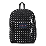 JanSport Big Student Backpack - Black Sketch Dot - Oversized