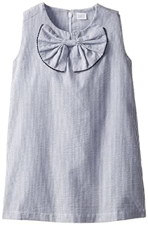 Egg by Susan Lazar Little Girls' Seersucker Dress, Blue, 3T
