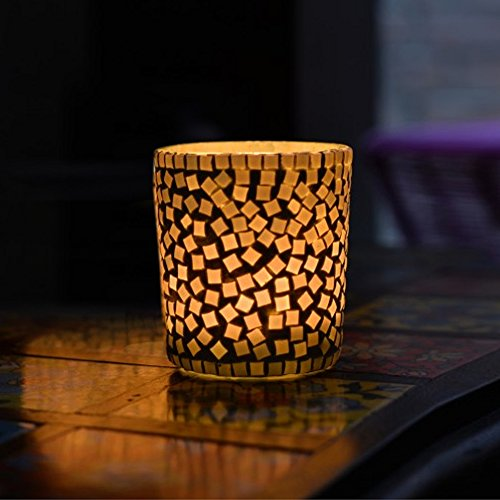 Glass Mosaic Tea Light Candle Holder Home Décor Accessories by Store Indya