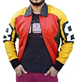 Cup Of Fashion David Puddy 8 Ball Jacket ►Best Deal◄ (Medium, Black, Orange & Yellow)