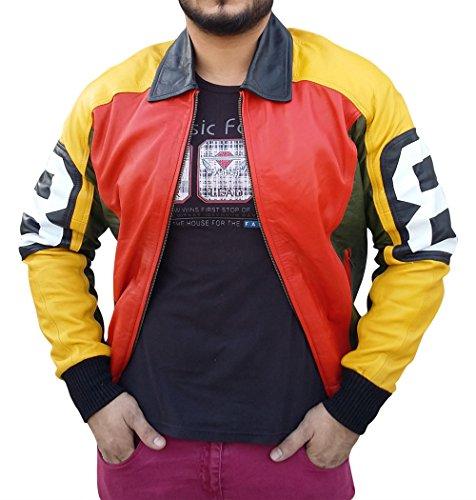 David Puddy 8 ball Jacket ►Best DEAL◄ (X-Large, Black, Orange & Yellow)