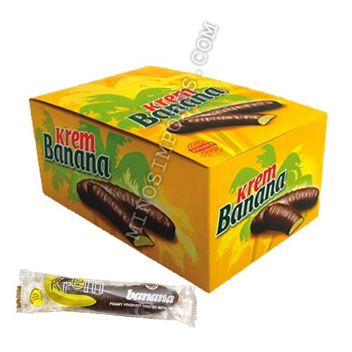 Evropa Krem Banana 35pc x 17g box By: Egourmet by Evropa