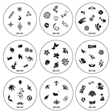 Bundle Monster Manicure Nail Art Image Polish Stamping Plates Accessories - Revised 2010 Collection