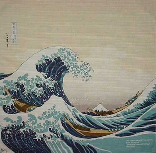Motif Japan (Furoshiki Hokusai's 'The Wave' Motif Japanese Fabric 48cm)