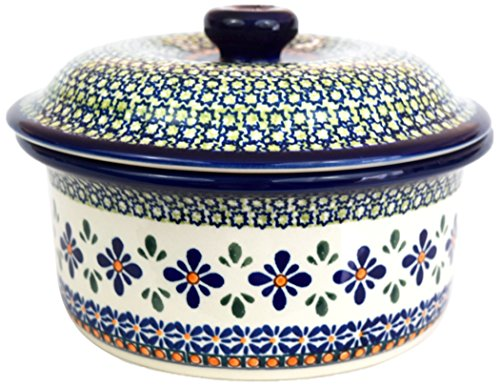 Pottery Avenue 887/DU60 Polish Sweetie Pie Stoneware Casserole, 1 L, Blue/Green/Orange