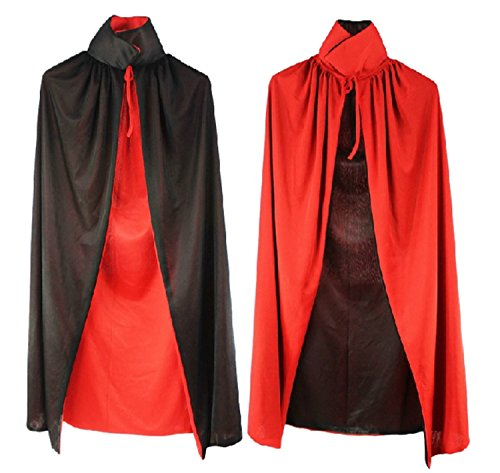 Muse Halloween Costume (Halloween Christmas caped Dracula-style red black reversible event costume (90 cm))