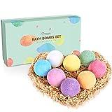 BESTOPE Bath Bombs Gift Set, 8 x 3.5 oz Vegan Natural Essential Oil & Lush Fizzy and Spa Bubble Bath Moisturizes Dry Skin, Luxury Gift for Valentine, Women, Mom, Teen Girl, Birthdays