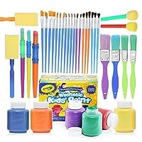 Complete Set of 30 Paint Brushes Bundle with Crayola Washable Kid