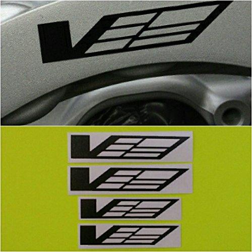 R&G CTS-V Logo Brake Caliper HIGH TEMP Decal Sticker Set of 4 (Black) ()