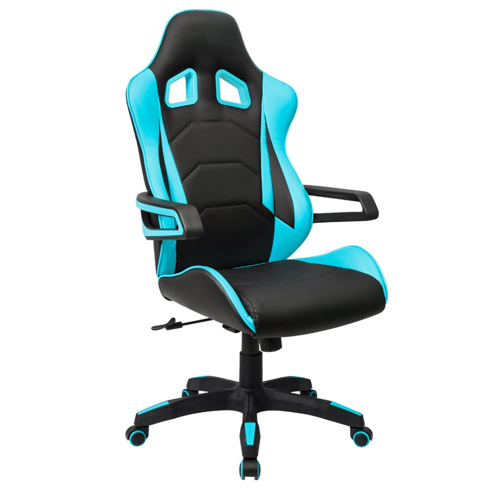 Homall Racing Chair Ergonomic High-Back Gaming Chair Premium PU Leather Bucket Seat -Computer Swivel Lumbar Support