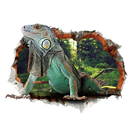 Lizards Mural - Goldweather DIY 3D Lizard Wall Stickers Removable Mural Art Decals Vinyl Wall Stickers Home Backdrop Decor (Multicolor)