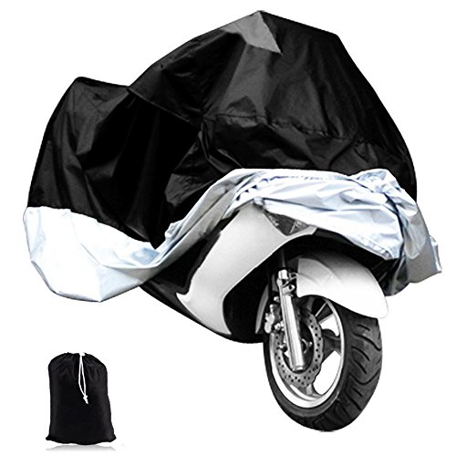 NKTM Motorcycle Cover Scooter Rain Cover Motorbike Waterproof Protector Fits up to 97 In Harley Davison Honda Suzuki Yamaha Kawazaki and More