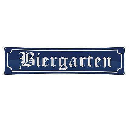 NET TOYS Letrero Oktoberfest Biergarten 180 x 40 cm Cartel ...
