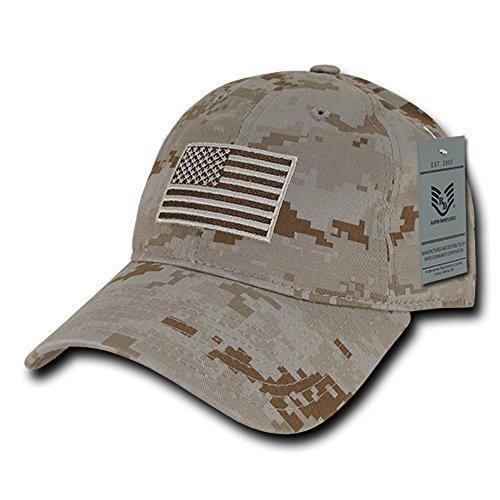 RapDom Polo Style American Pride Flag Baseball Caps - Desert ()