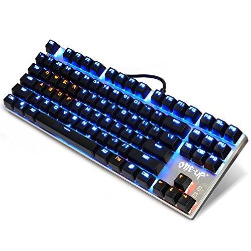EMISH Mechanical Gaming Keyboard, 87 LED Illuminated Backlit