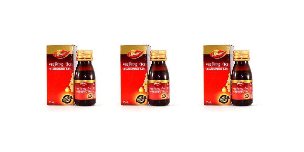 Dabur Shadbindu Tail for Headache, Cold and Sinusitis - Economy Pack 100ml (50ml X 2)