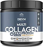 Keto Protein Powder and MCT Oil, it Includes Hydrolyzed Collagen Peptides, Marine Collagen, Bone Broth, to Help with Skin, Joints, Bones and More, by Providing Collagen Type I, II, III, V and X