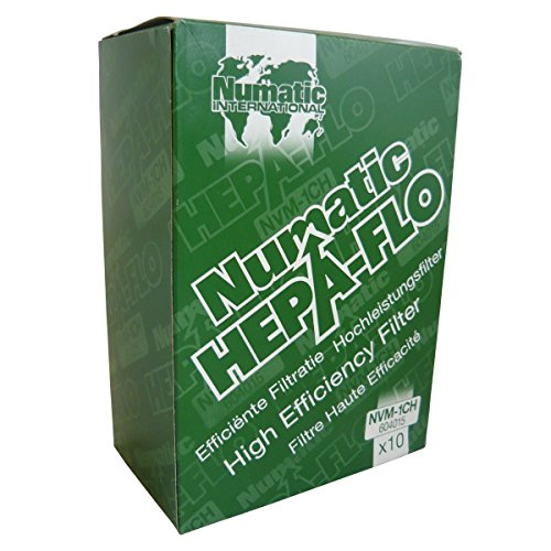 "Numatic NVM-1CH HepaFlo Disposable Filter Bags Pack - for the ""Henry"" HVR200A, the ""Hetty"" HET200A, the ""James"" JVP180, and the ""Henry Micro"" HVR200M Vacuum Cleaners - (10-Bags Per Pack)"