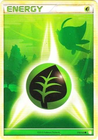 Pokemon - Grass Energy (115/123) - HeartGold SoulSilver