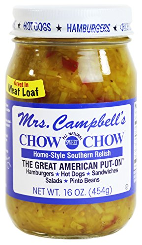 (GOLDING FARMS Mrs. Campbell's All Natural Sweet Southern Chow Chow Relish, 16 Ounce Glass Jar)
