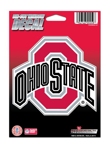 NCAA Ohio State Buckeyes Die Cut Vinyl Decal with Backing - Ohio Sticker Bumper