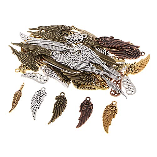 kesoto Alloy Pendants Charms Multistyle Wing for DIY
